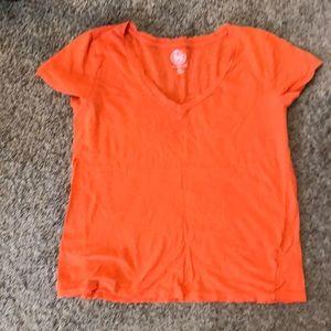 Large orange vneck so kohl's brand